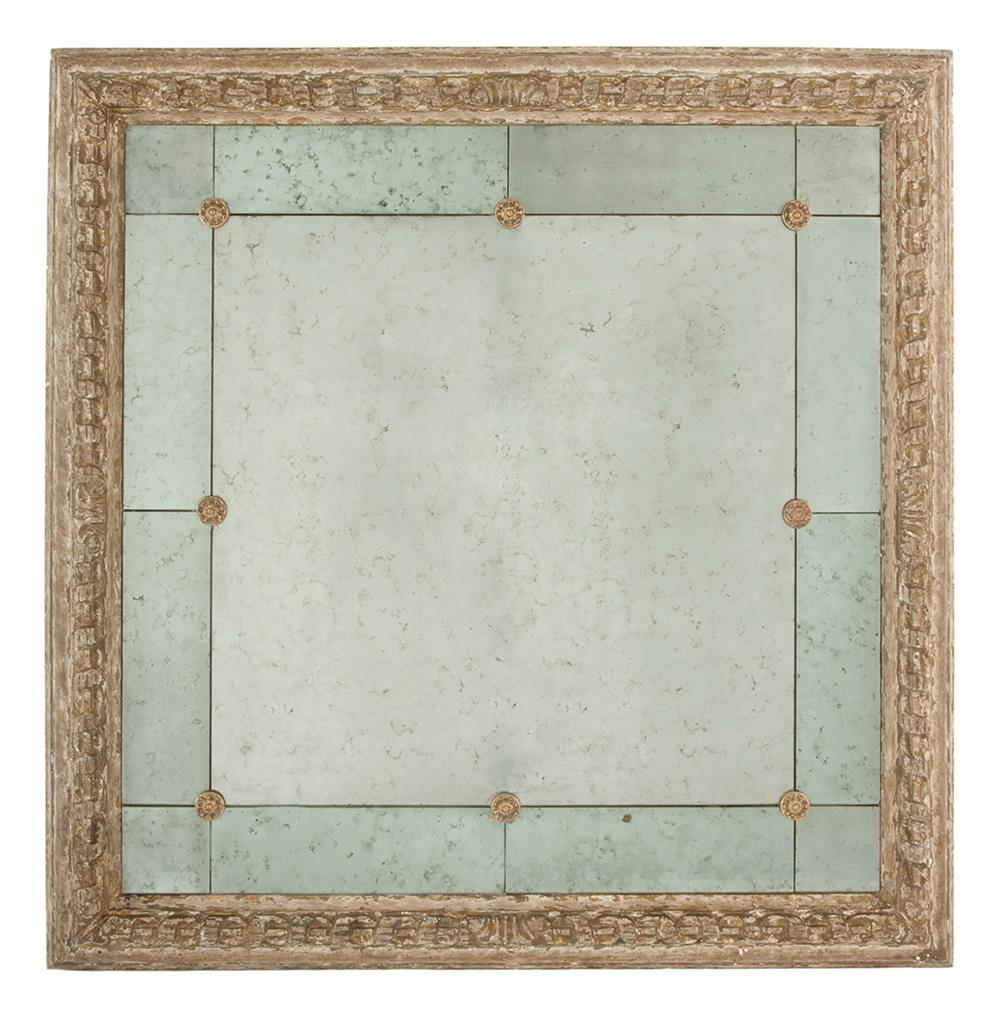 French country antique gold bilzen 48 inch square rosette for Square mirror