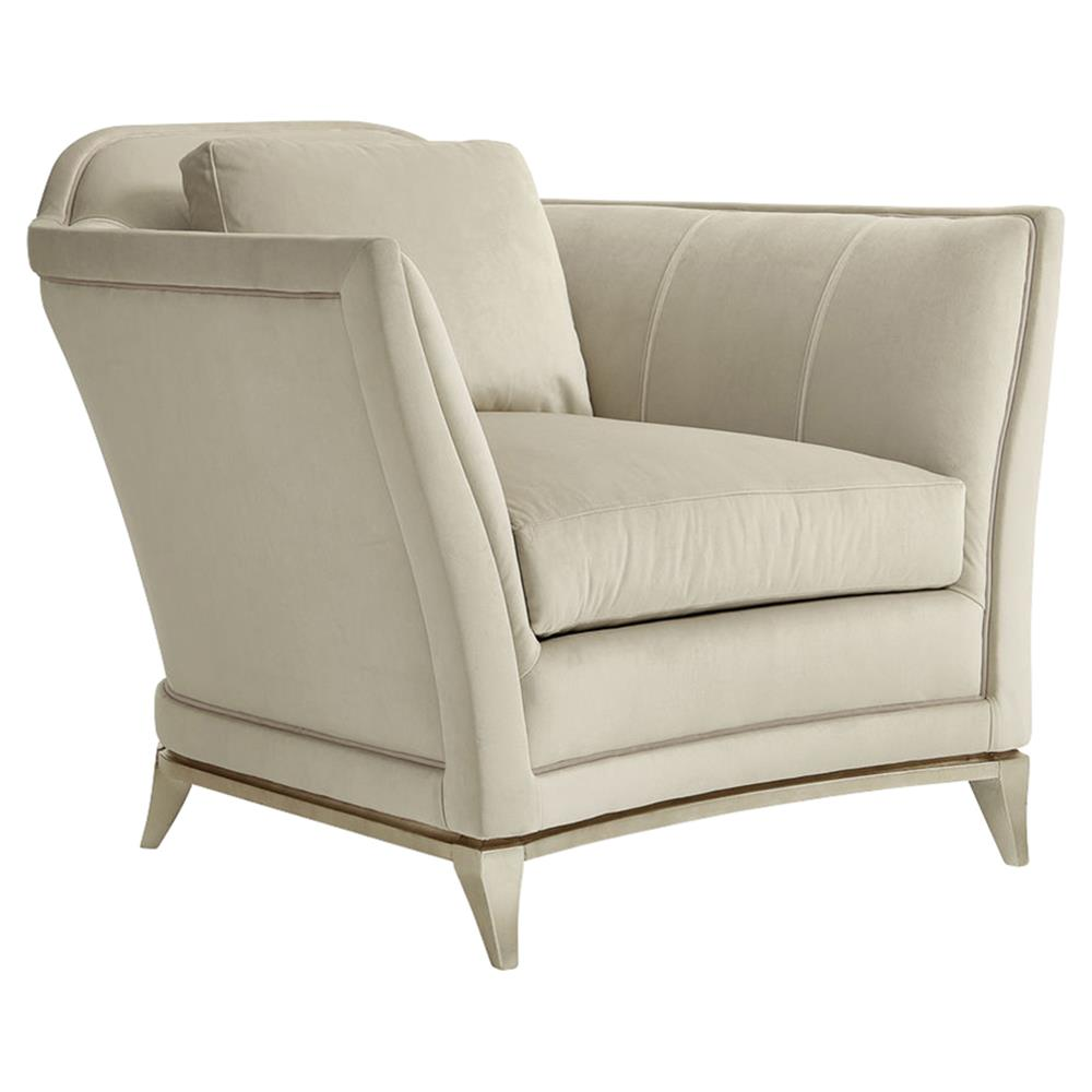 Ninette Modern Classic Velvet Upholstered Curved Silver Club Accent Armchair  | Kathy Kuo Home ...