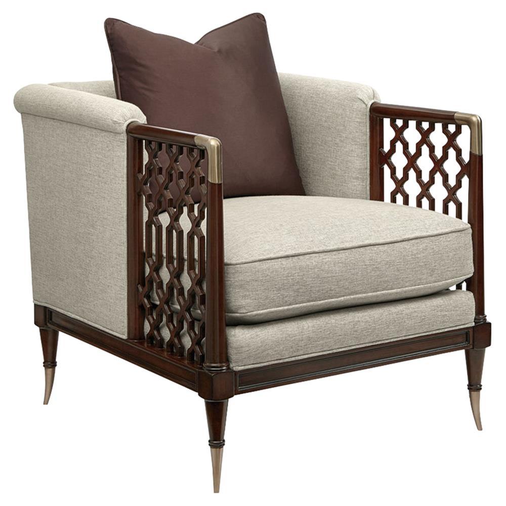Watson Natural Linen Upholstered Club Chair Modern Arm