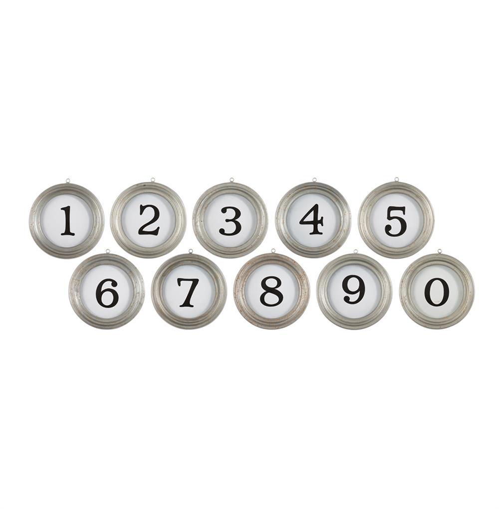 Vintage Typewriter Keys Metal Numbers Wall Decor | Kathy Kuo Home