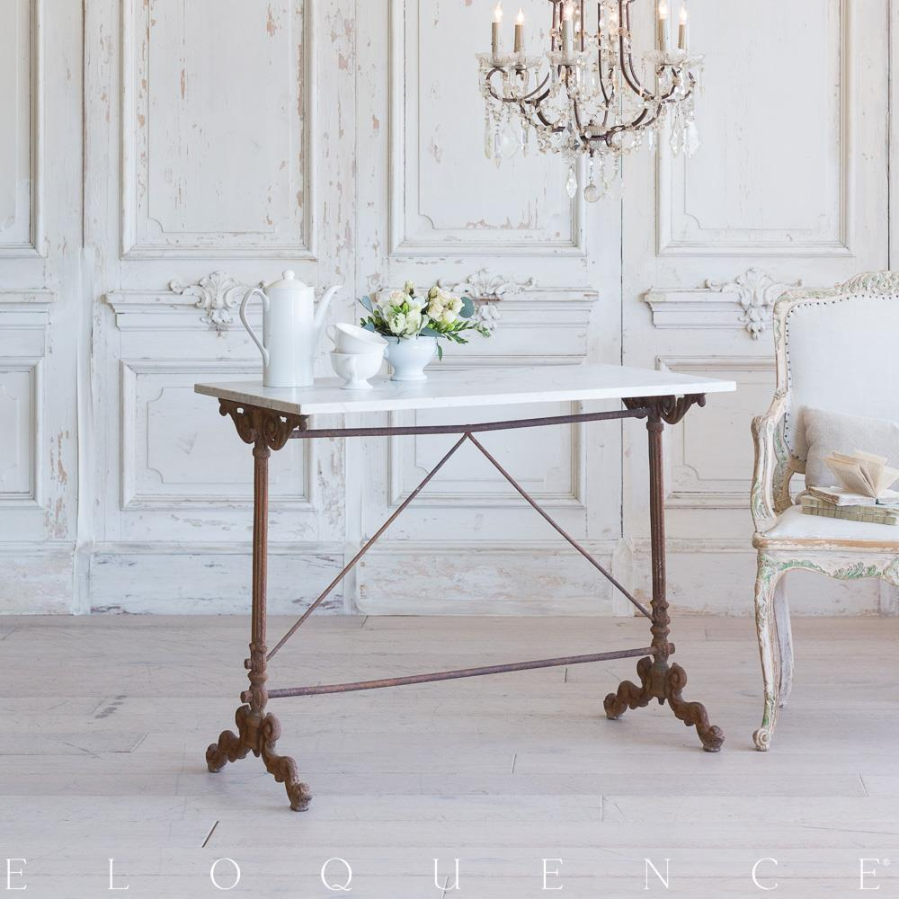 Eloquence French Country Style Antique Bistro Table: 1900 | Kathy Kuo Home
