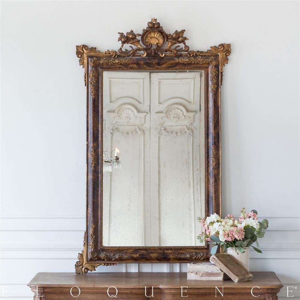 french provincial mirror eloquence country style antique mirror 1900 1106