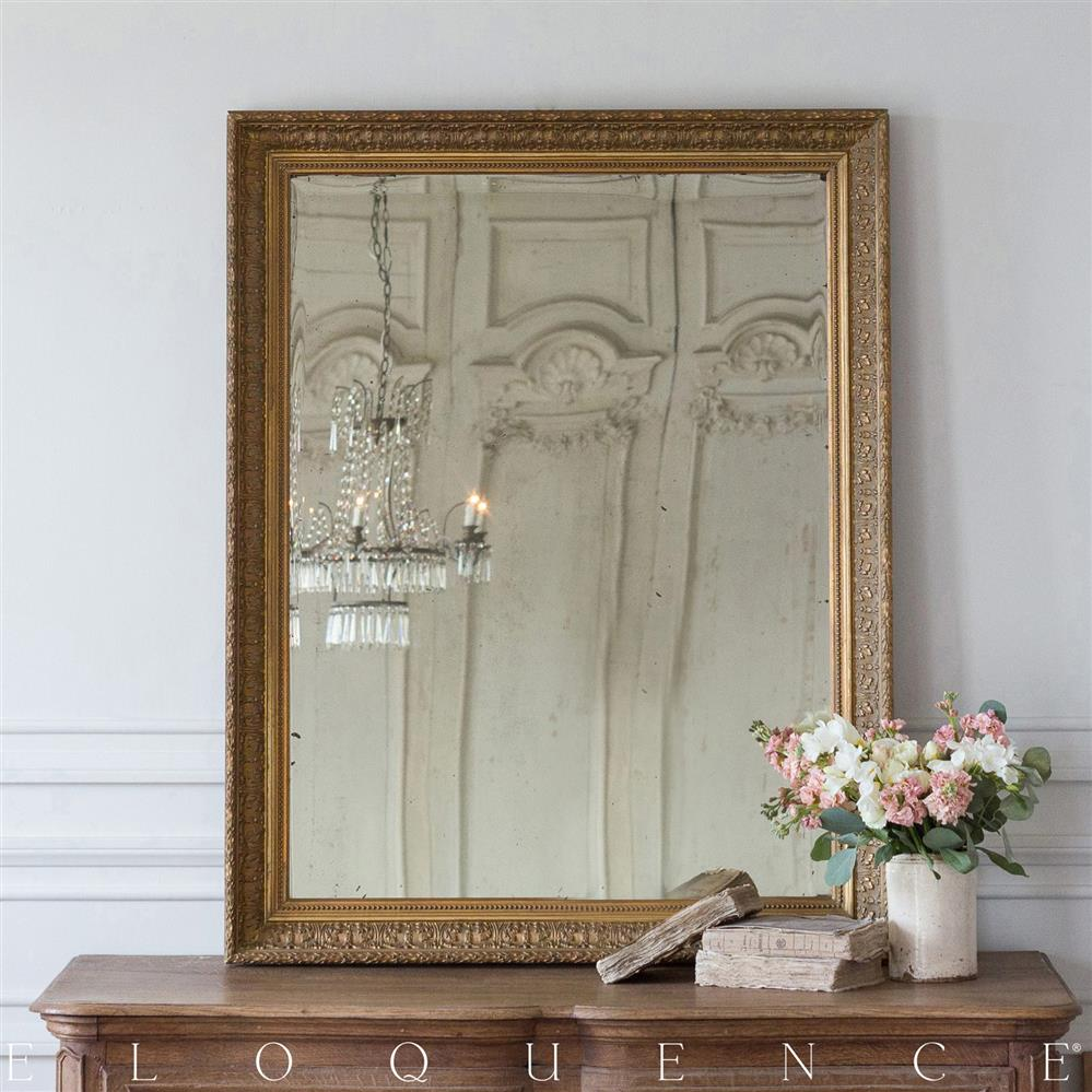 Eloquence French Country Style Antique Mirror 1880 Kathy Kuo Home