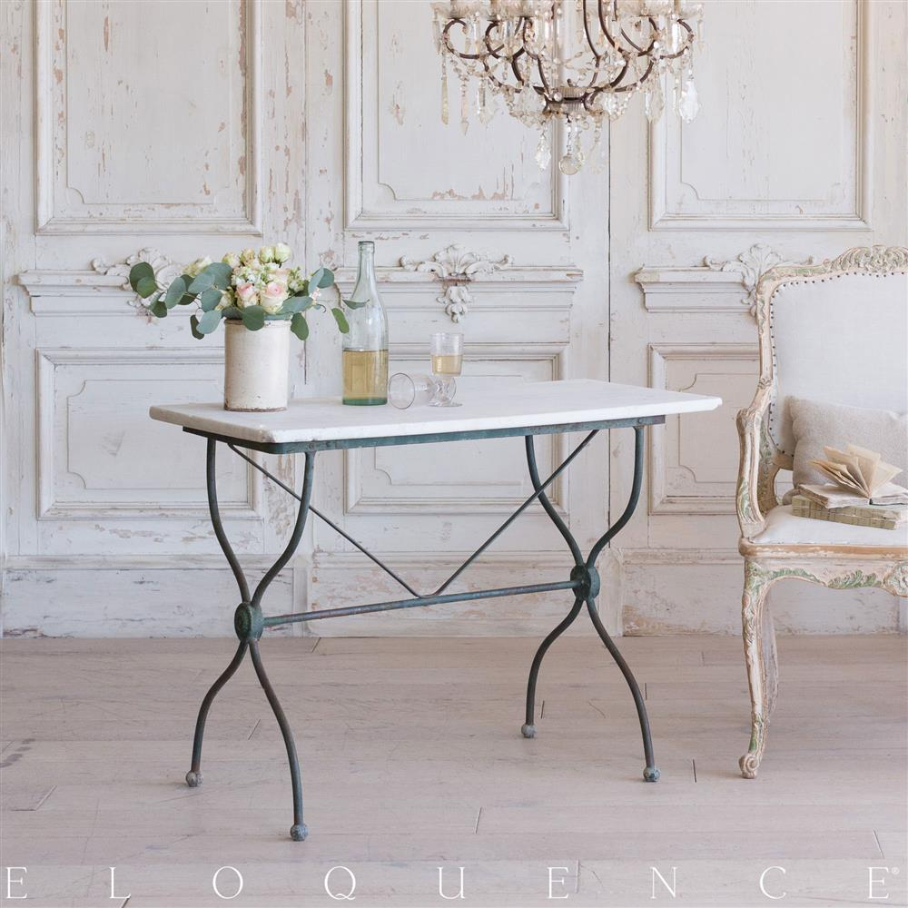 Elegant Eloquence French Country Style Antique Bistro Table: 1900 | Kathy Kuo Home