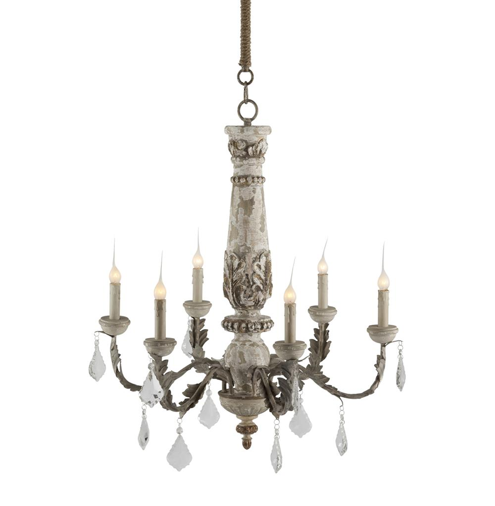 Chateau bealieu leaf french country grey chandelier French country chandelier