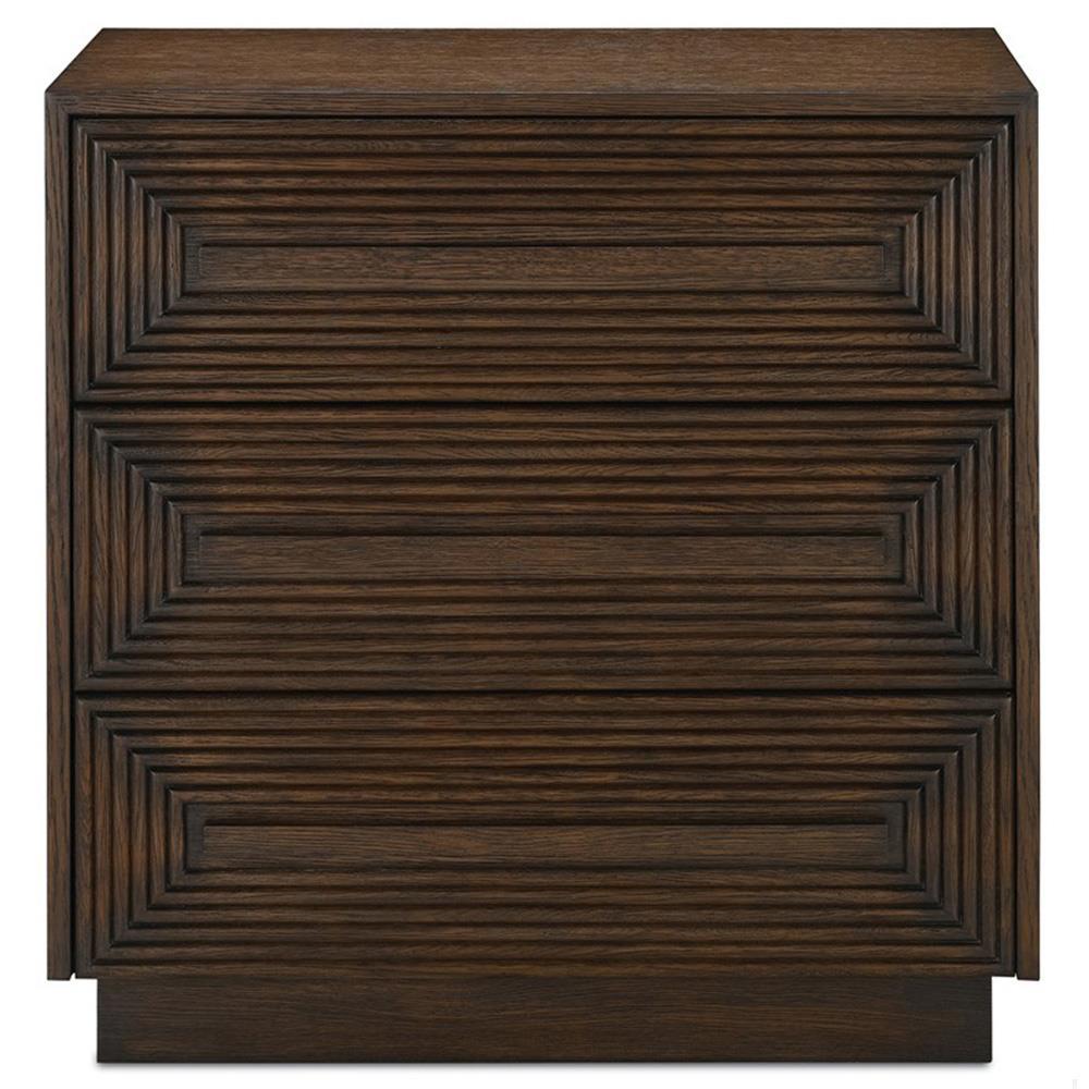 Prana Global Bazaar 3 Drawer Geometric Carved Chocolate Brown Wood Chest |  Kathy Kuo Home ...