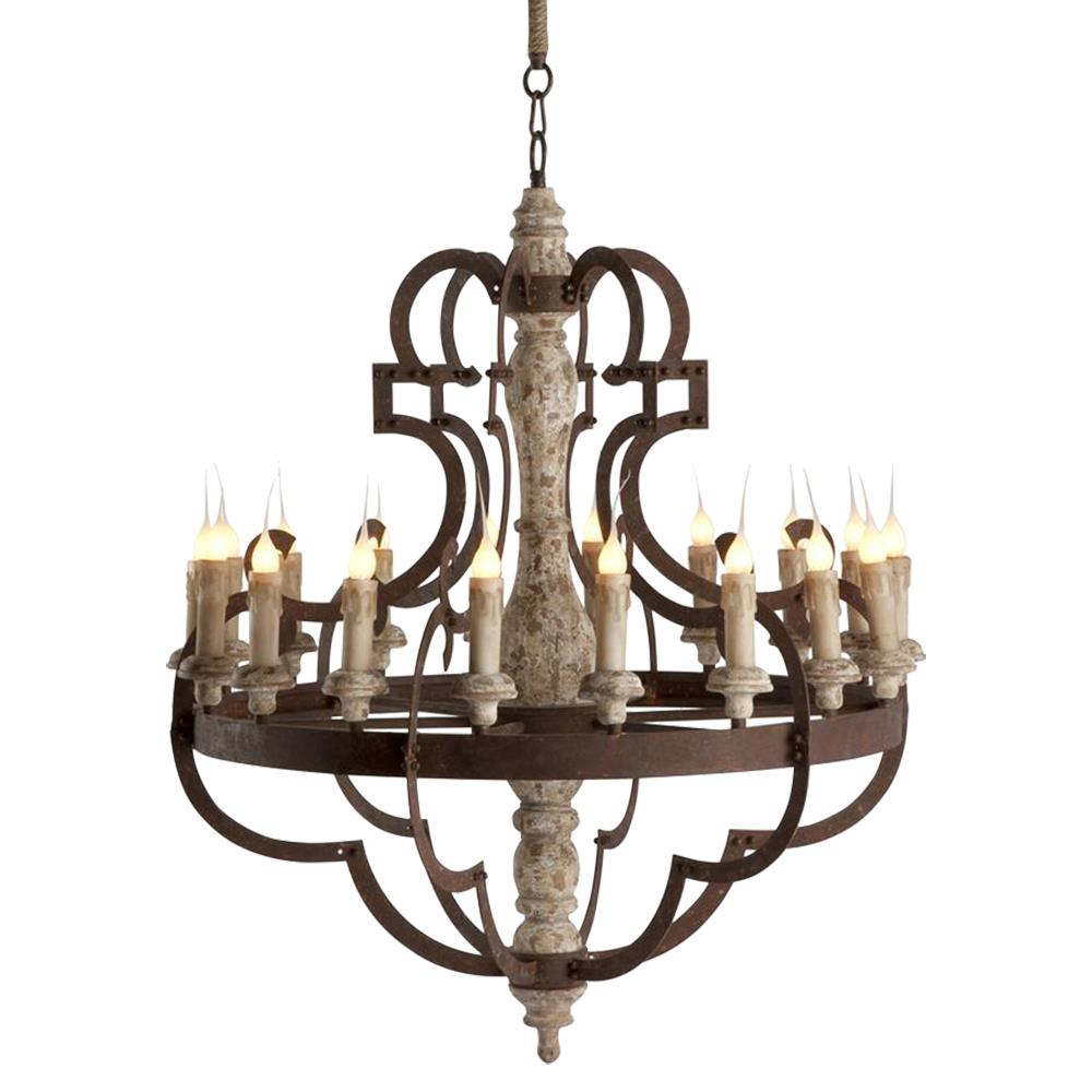 rustic chandeliers nurnberg large rustic iron 18 light chandelier kathy kuo 748