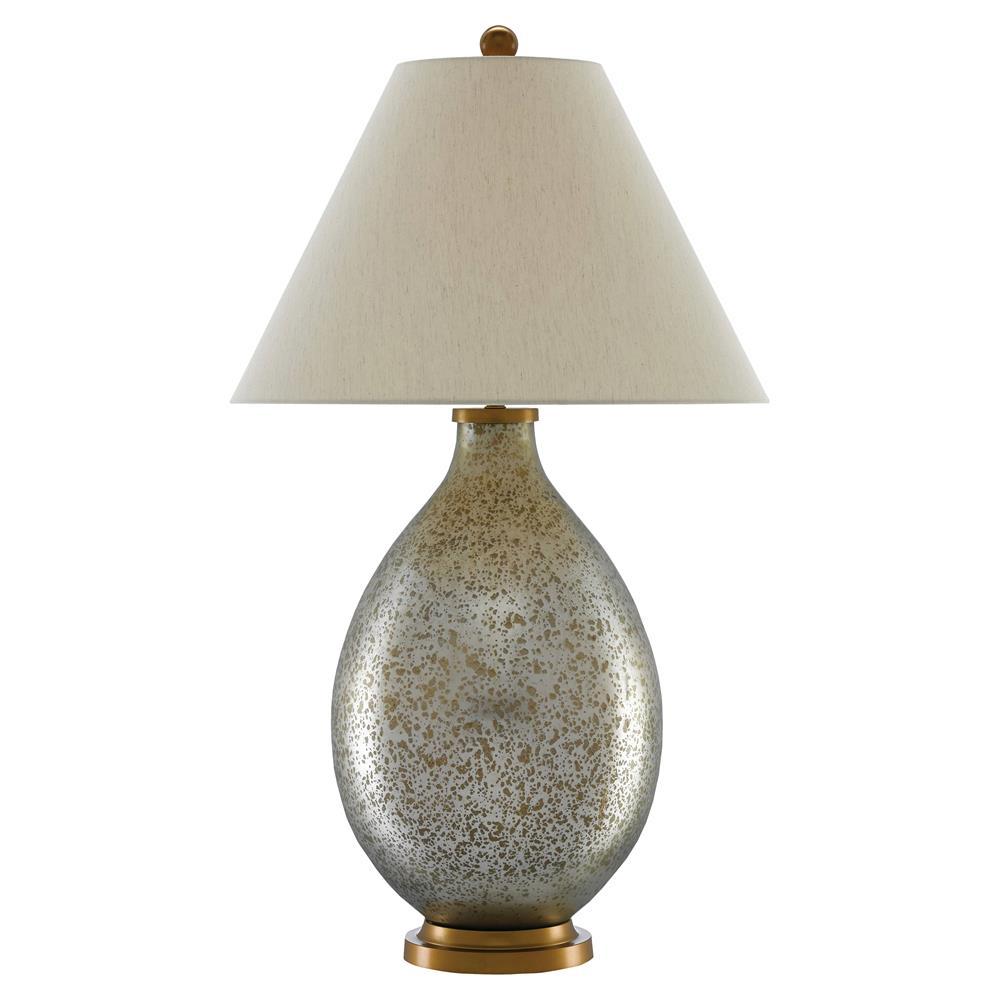 Shari Modern Clic White Gold Mercury Gl Table Lamp Kathy Kuo Home