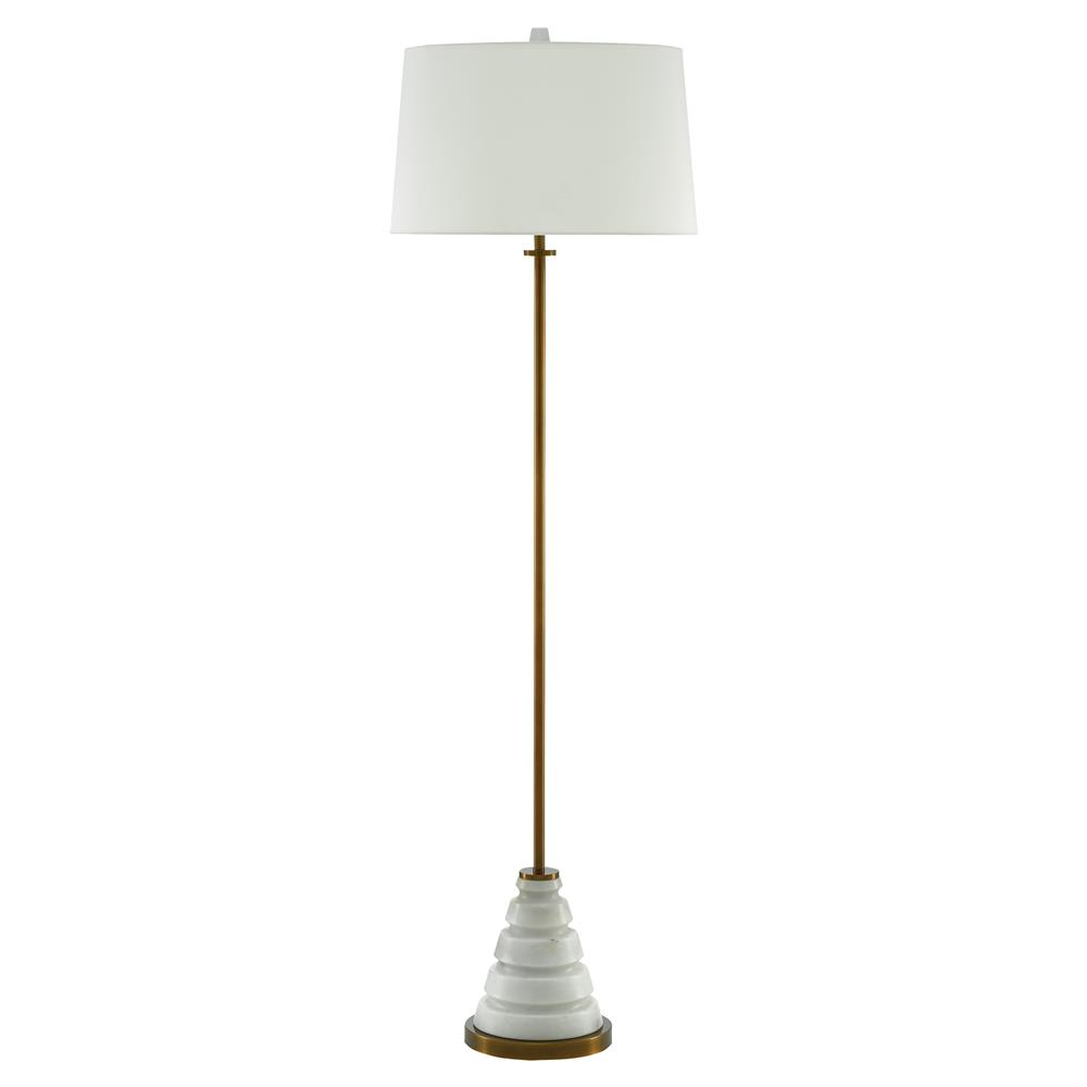 culver modern classic white marble brass floor lamp kathy kuo home. Black Bedroom Furniture Sets. Home Design Ideas