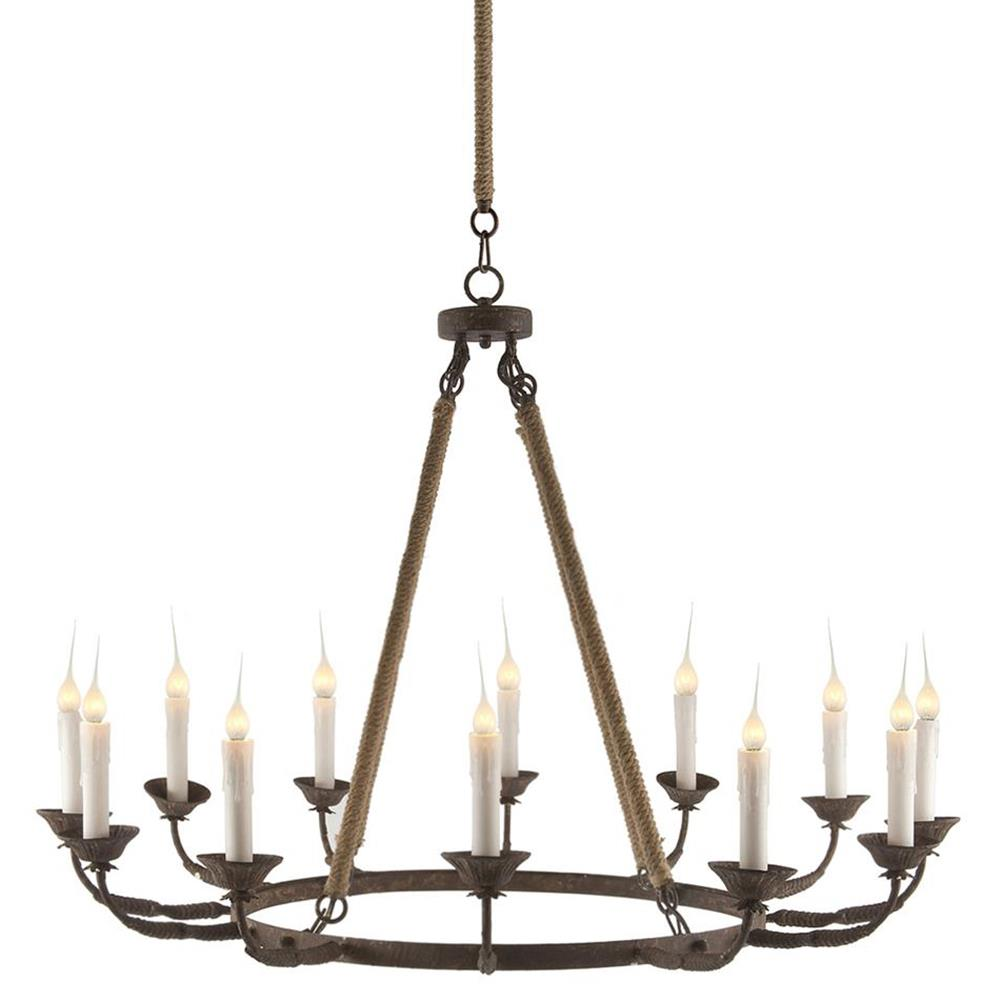 rustic chandeliers consuelo country rustic burlap simple 12 light chandelier 748