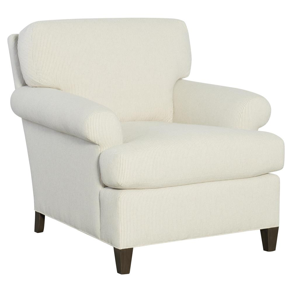 Cr laine perry modern classic white cotton upholstered club chair kathy kuo home