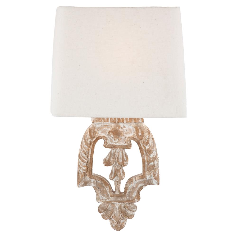 Charmant Pair Dorene Shabby Chic White Wash Architectural Wall Sconces | Kathy Kuo  Home