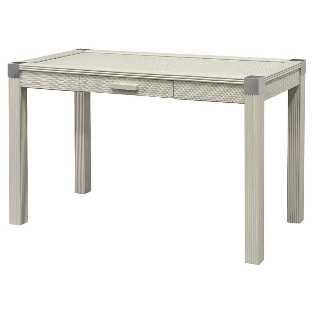 Palecek Gregory Coastal Beach Hardwood Frame Silver Finish Small Desk