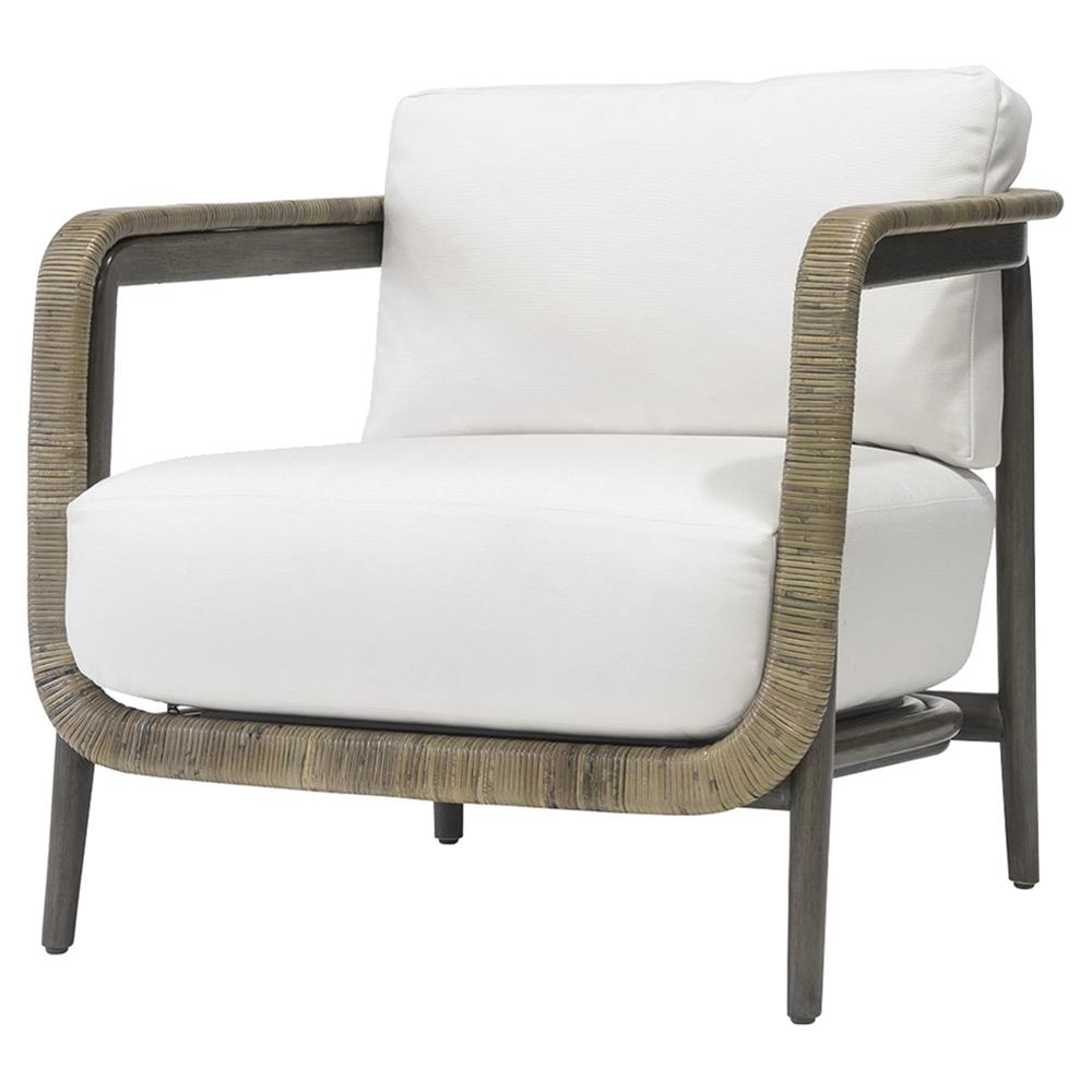 Palecek duvall coastal beach hardwood frame linen bisque fabric lounge chair kathy kuo home