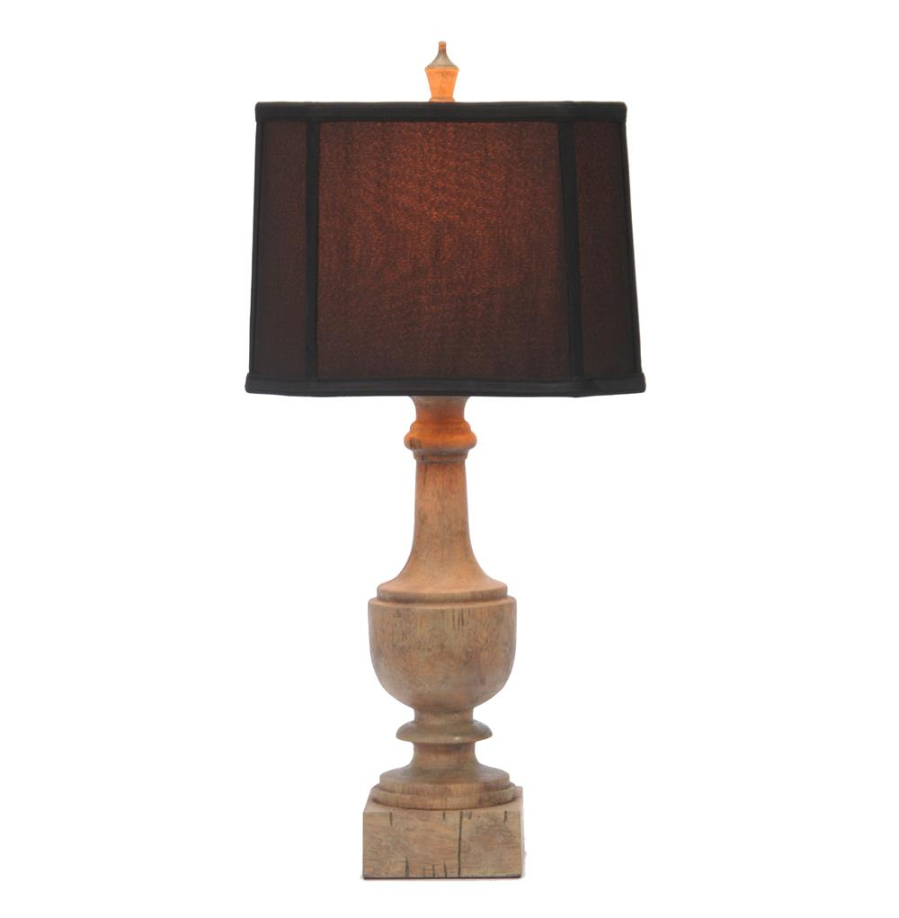 table lamps pair balustrade french country weathered brown table lamp. Black Bedroom Furniture Sets. Home Design Ideas