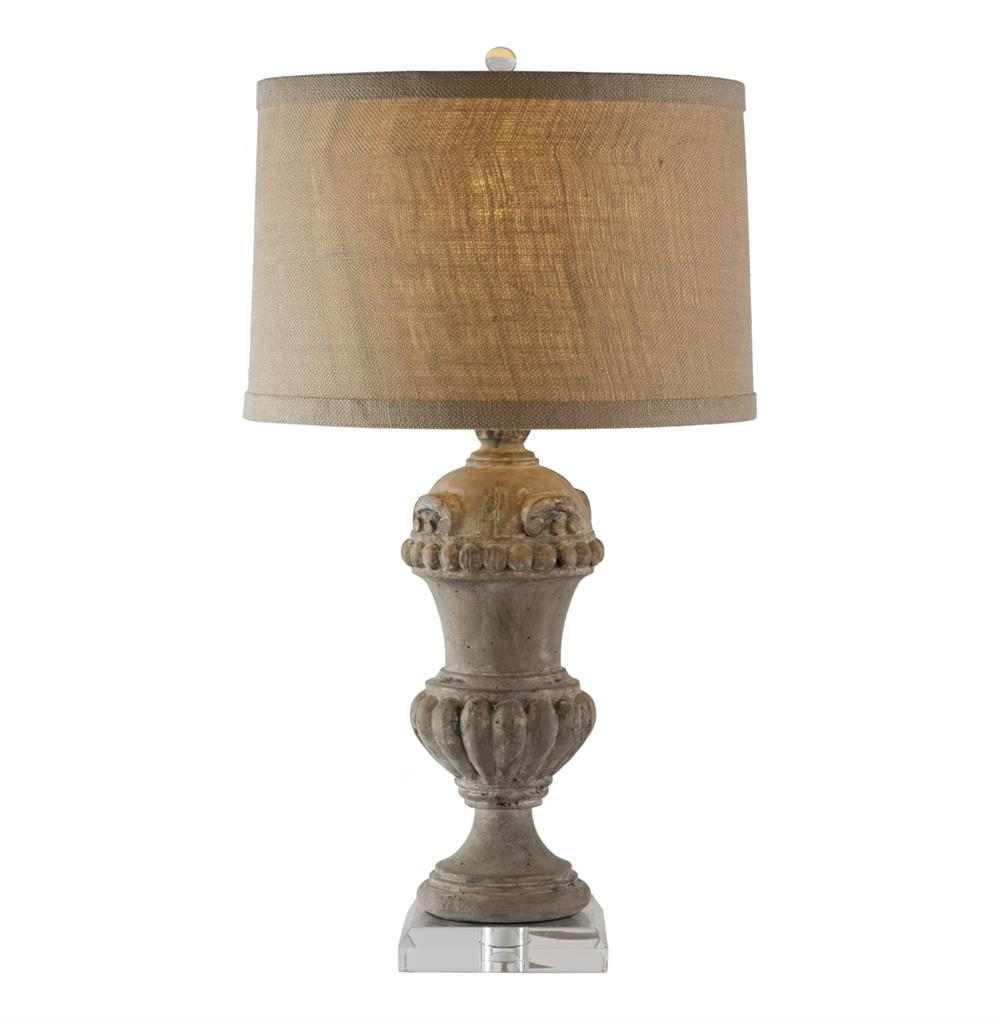 table lamps brussels carved wood urn french country table lamp. Black Bedroom Furniture Sets. Home Design Ideas