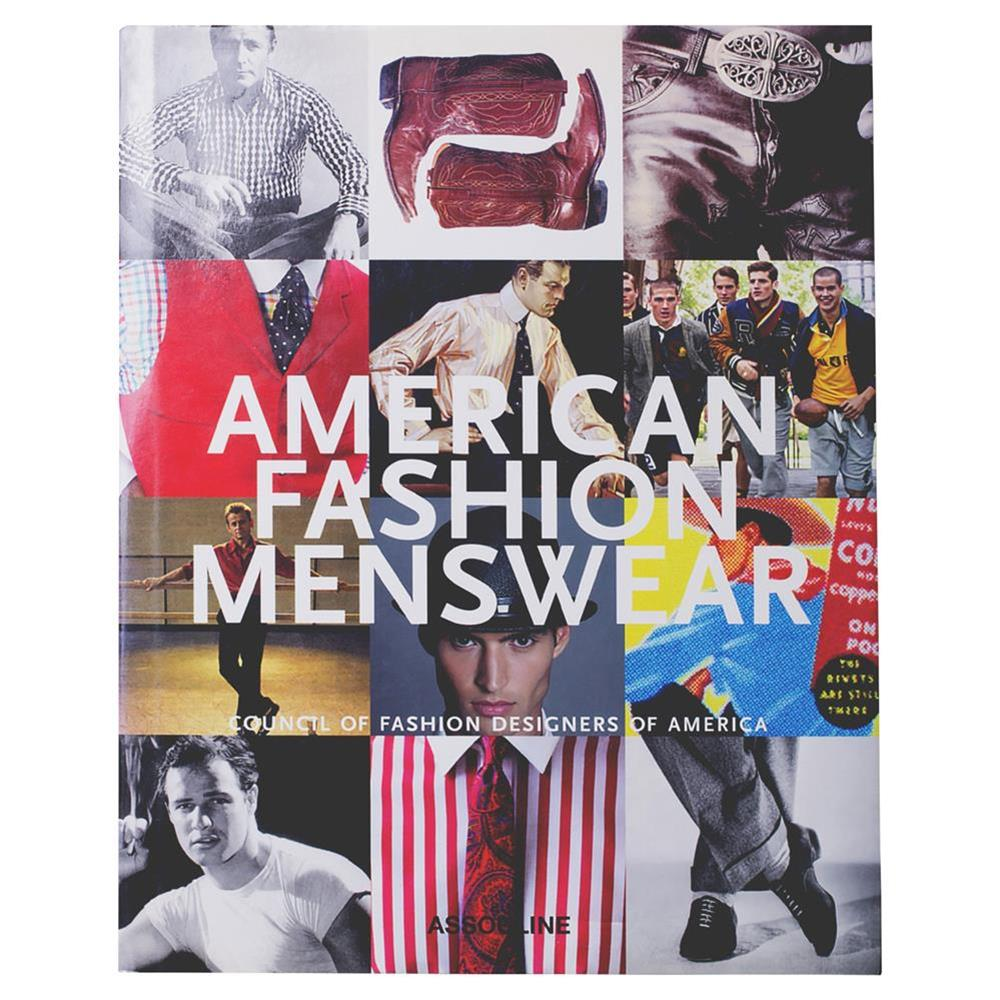 American Fashion Menswear Assouline Hardcover Book   Kathy Kuo Home