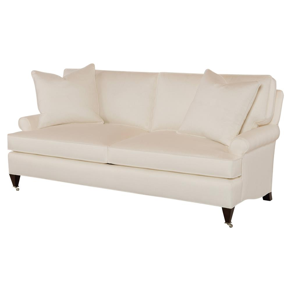 Merveilleux Penelopee Modern Classic Beige Feather Down Casters Sofa | Kathy Kuo Home
