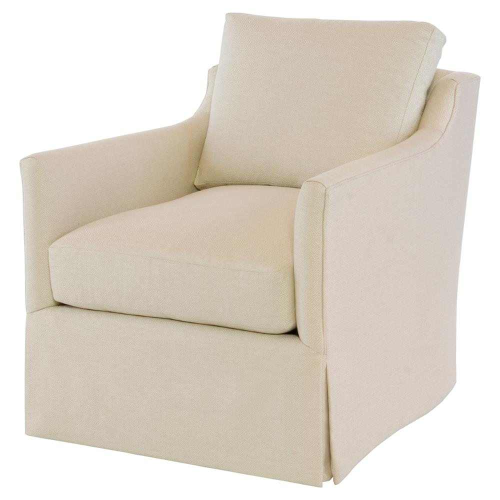 Leandro Modern Classic Beige Upholstered Cushion Back Swivel Accent Chair |  Kathy Kuo Home ...