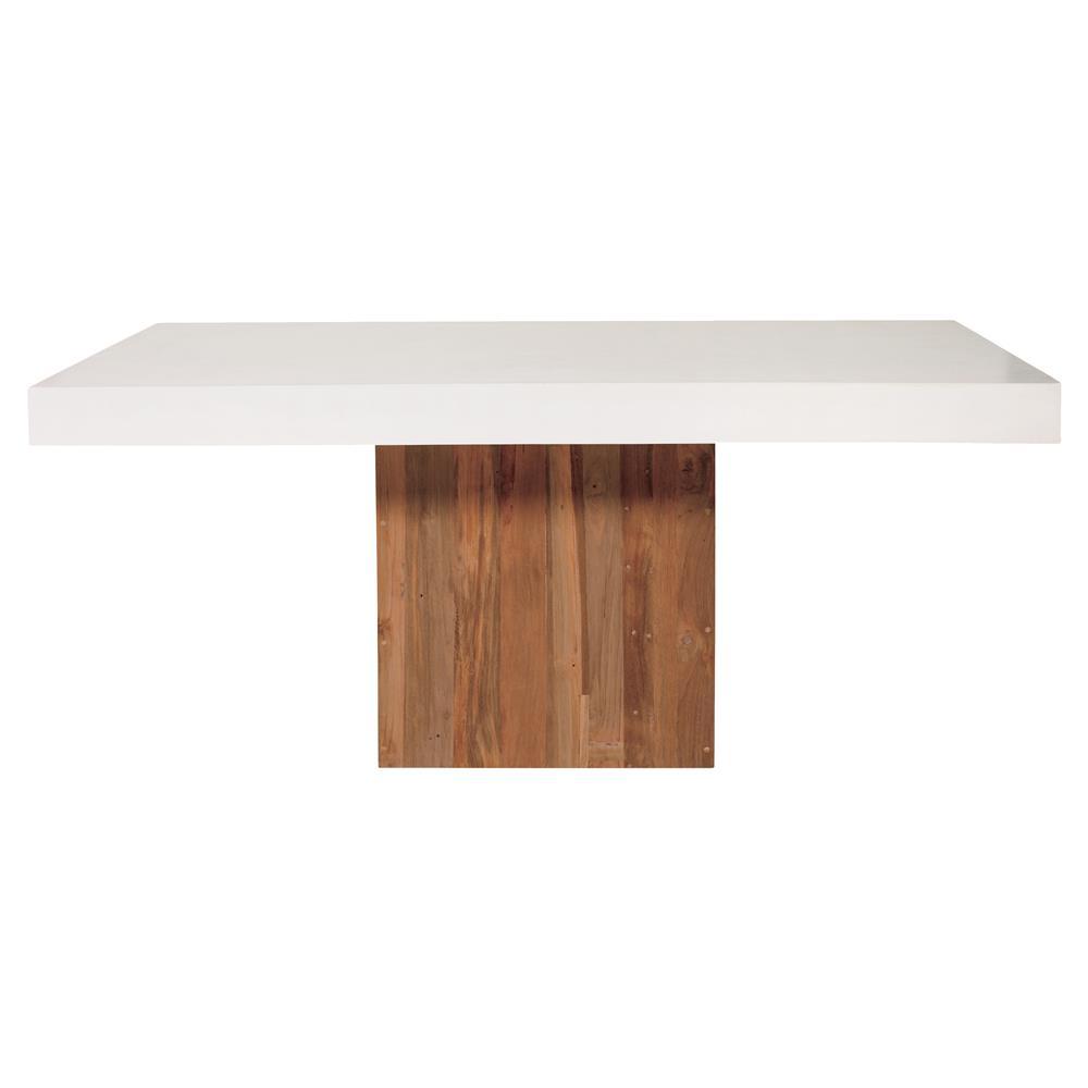 Cooper Modern Rectangular White Concrete Pedestal Outdoor