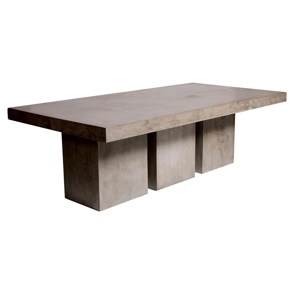 Cyrus Modern Rectangular Grey Concrete Outdoor Dining Table Kathy Kuo Home