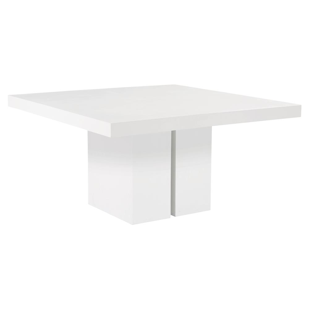 White Square Dining Table: Canyon Modern Square White Concrete Outdoor Dining Table