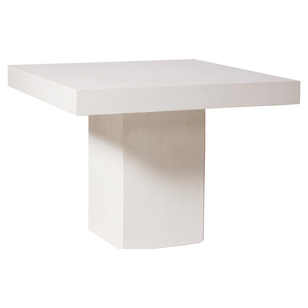 Chad Modern Square White Concrete Outdoor Side End Table Kathy Kuo Home