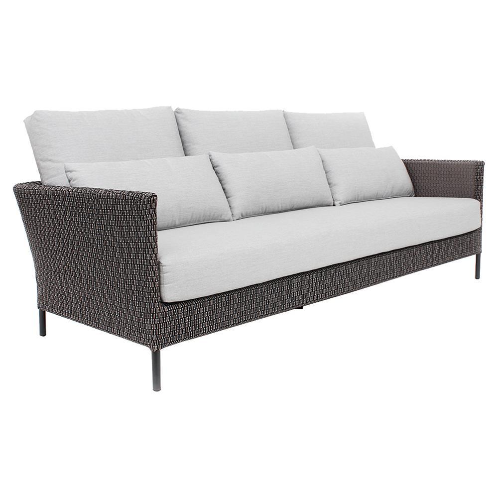 Modern Sectional Sofas Grey: Robert Modern Grey Sunbrella Upholstered Metal Outdoor