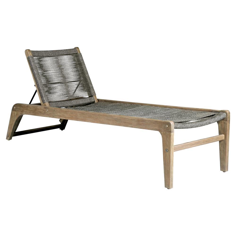 Cade coastal regatta rope acacia wood outdoor chaise lounge kathy kuo home