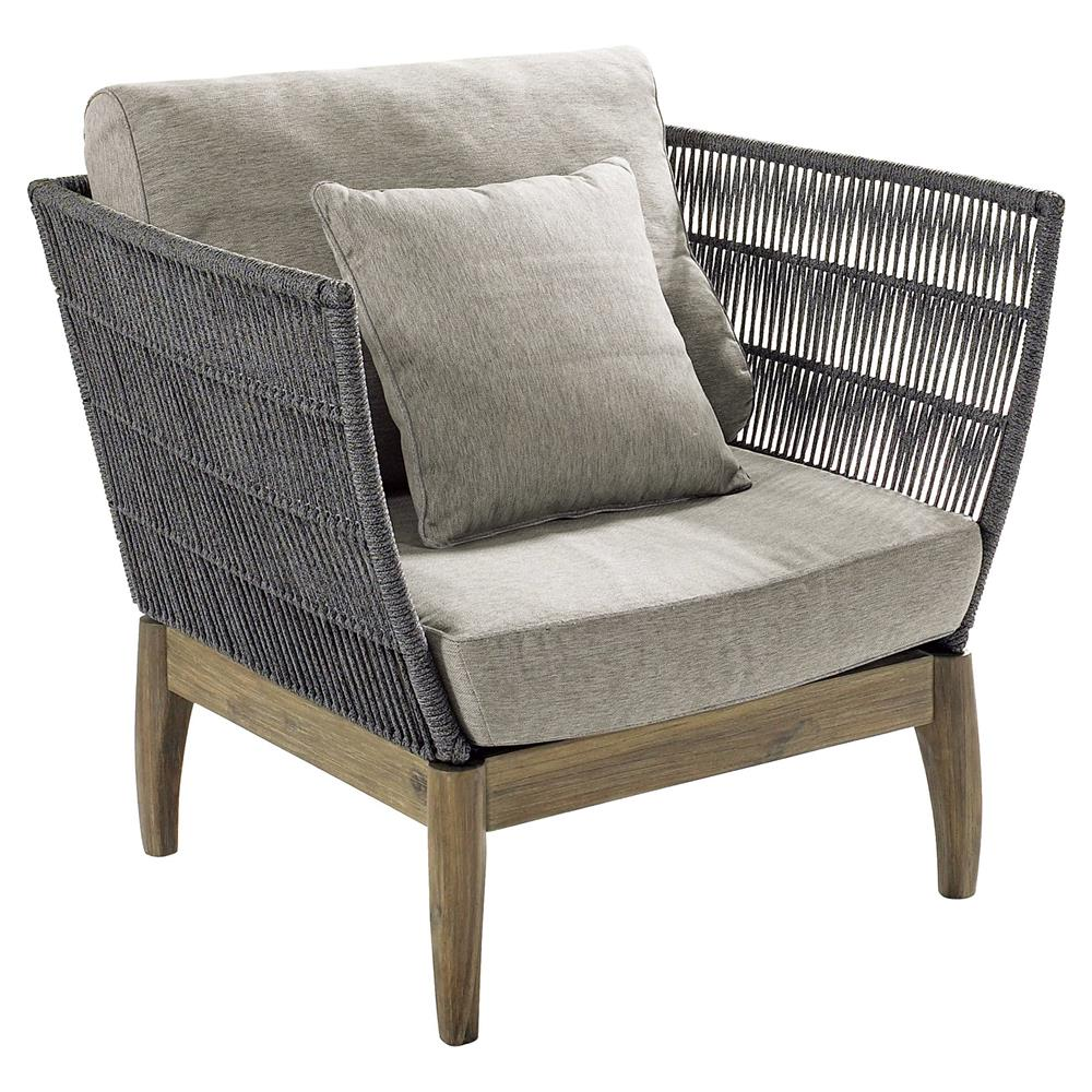 Cade coastal regatta rope acacia wood outdoor lounge chair kathy kuo home