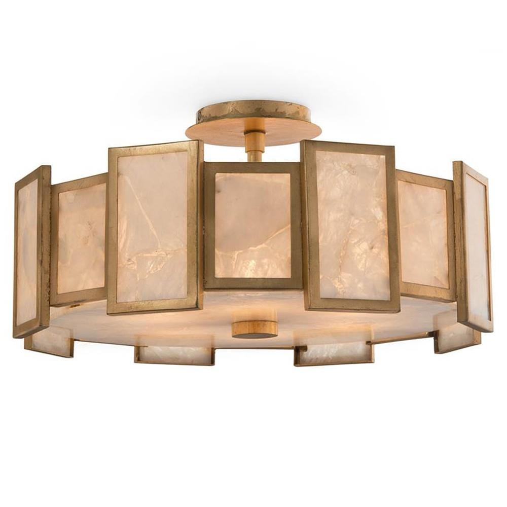 John richard lighting Diy John Richard Modern Classic Round Calcite Panel Light Semiflush Pendant Kathy Kuo Kathy Kuo Home John Richard Modern Classic Round Calcite Panel Light Semiflush