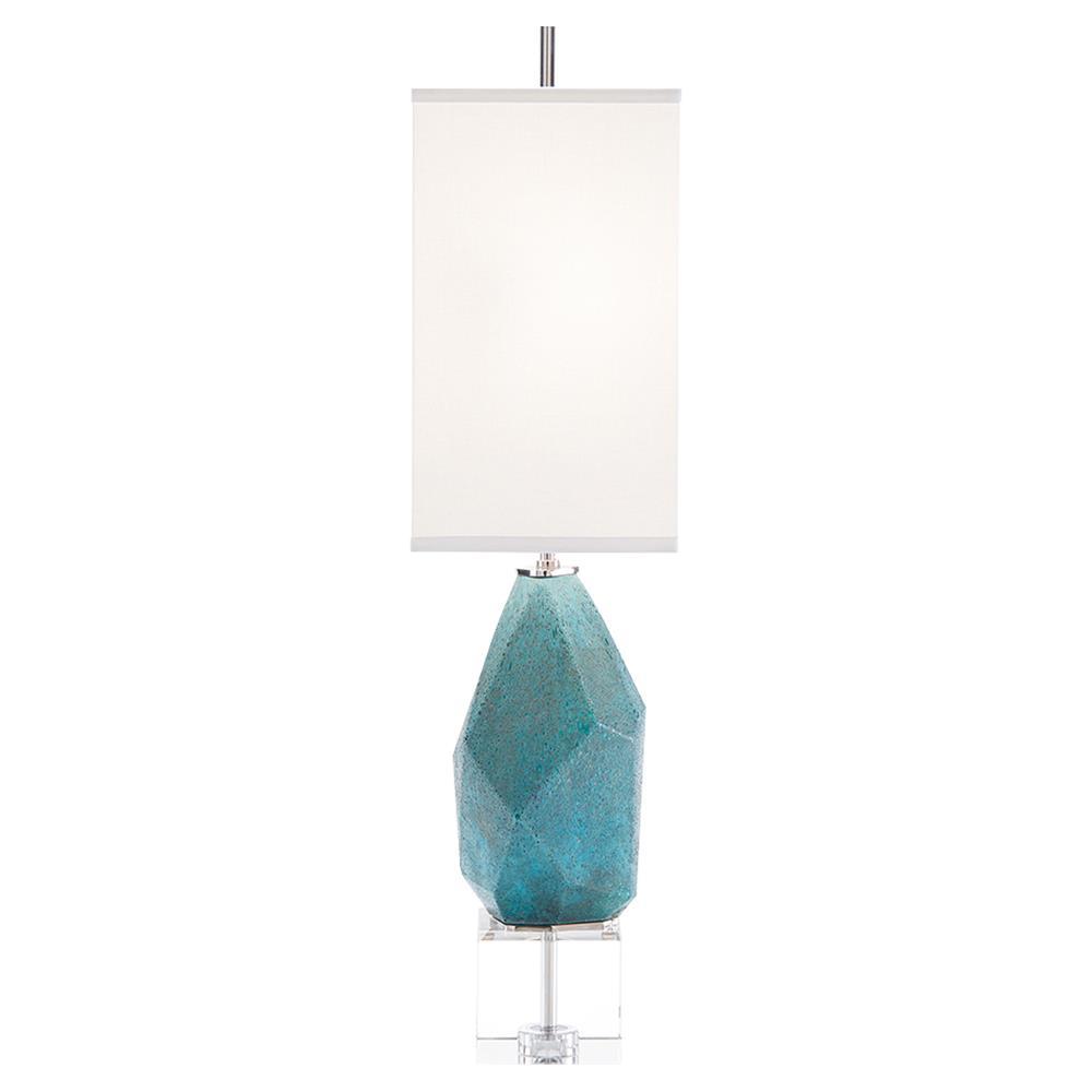 john richard modern classic multi faceted turquoise crystal base table lamp. Black Bedroom Furniture Sets. Home Design Ideas