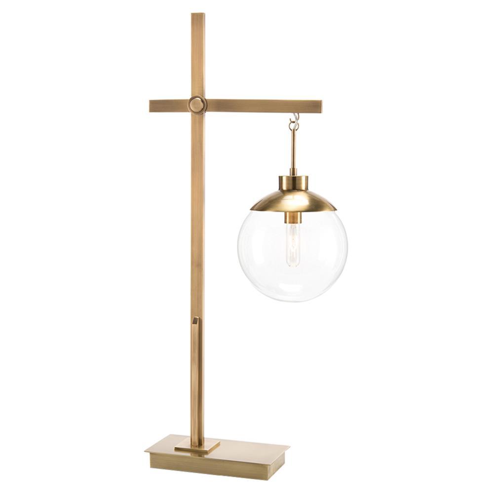 Ordinaire John Richard Modern Classic Brass Globe Glass Hanging Table Lamp   Kathy  Kuo Home