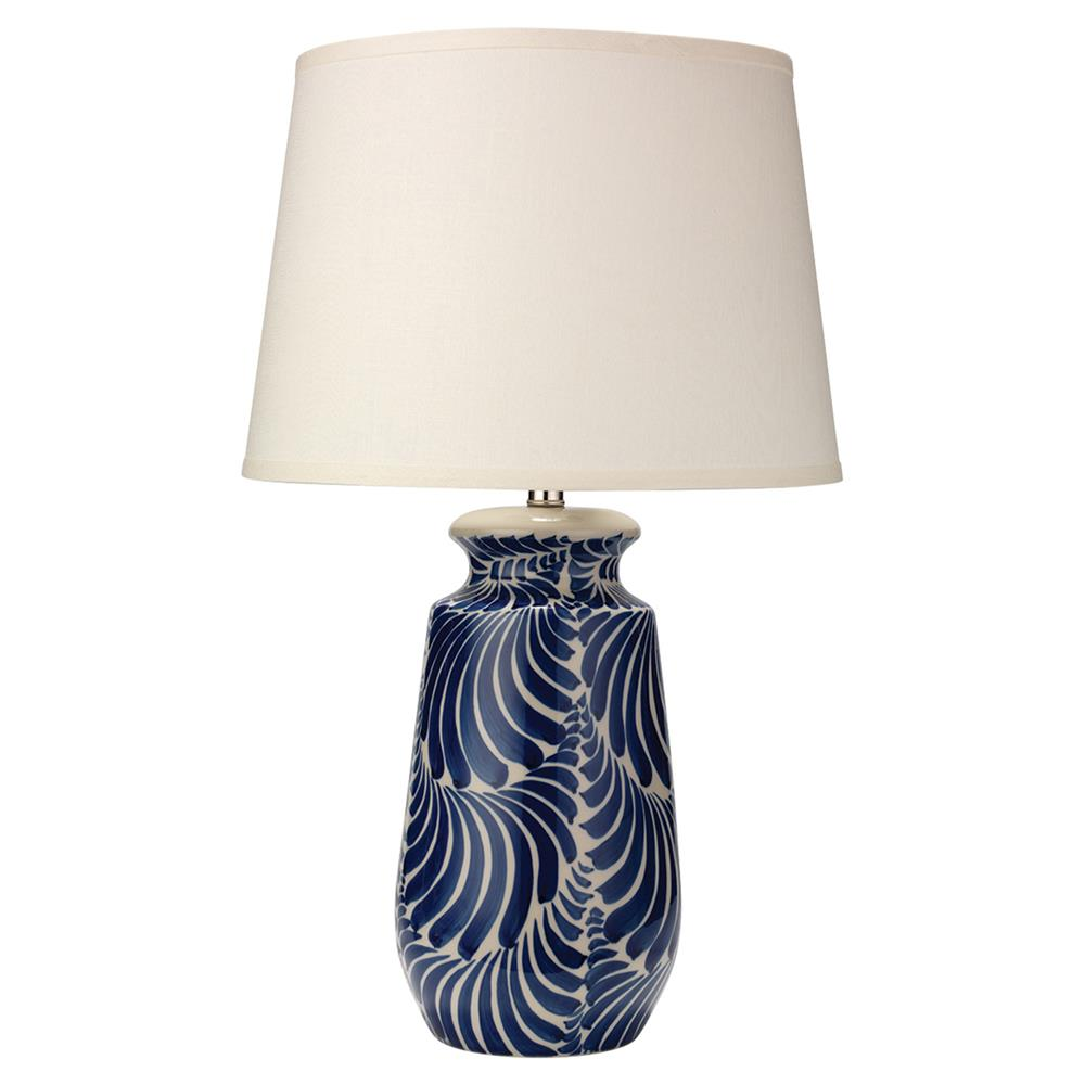 Andrea Modern Classic Blue White Ceramic Ivory Linen Shade Table Lamp |  Kathy Kuo Home ...