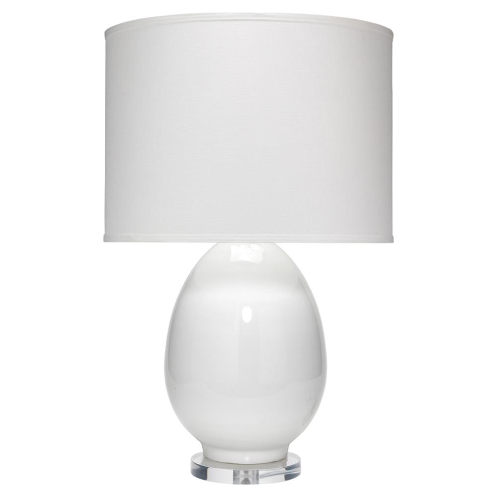 Cody Modern Classic White Glass Linen Shade Table Lamp Kathy Kuo Home
