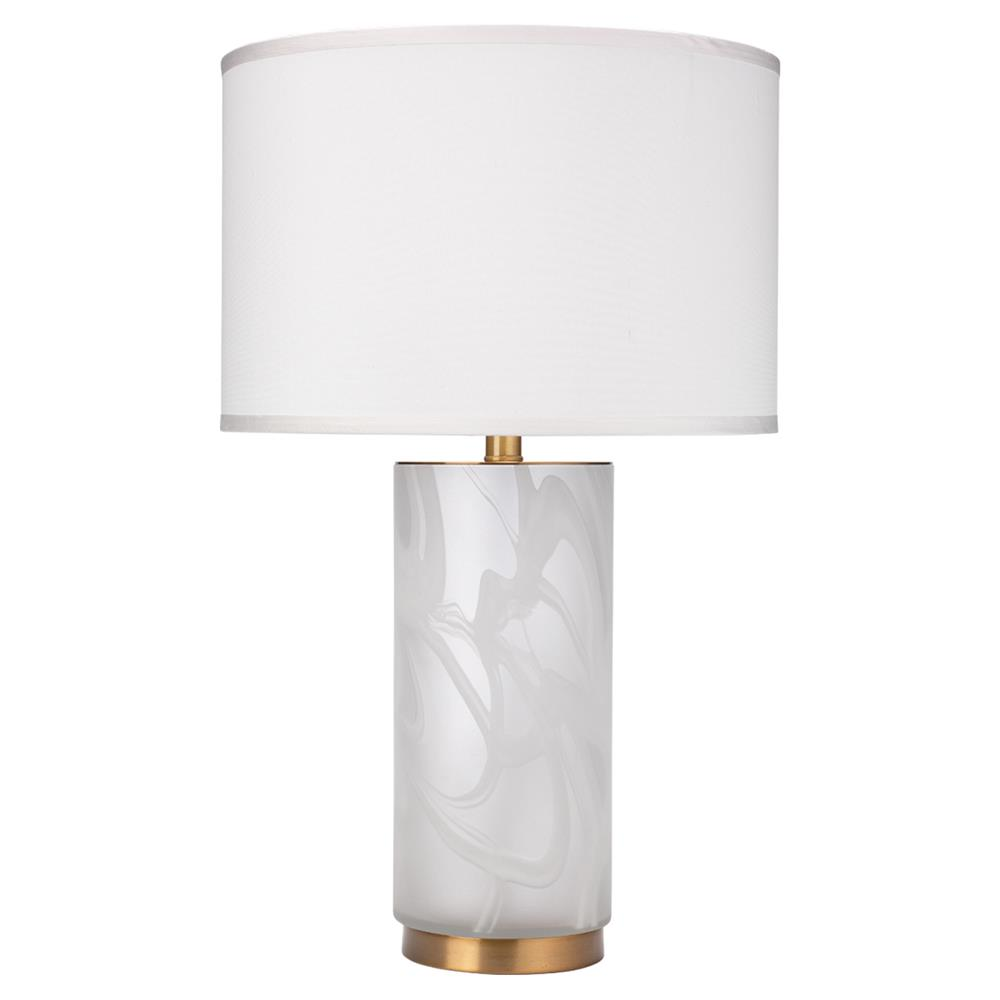 Molly Modern Classic White Glass Silk Shade Table Lamp Kathy Kuo Home