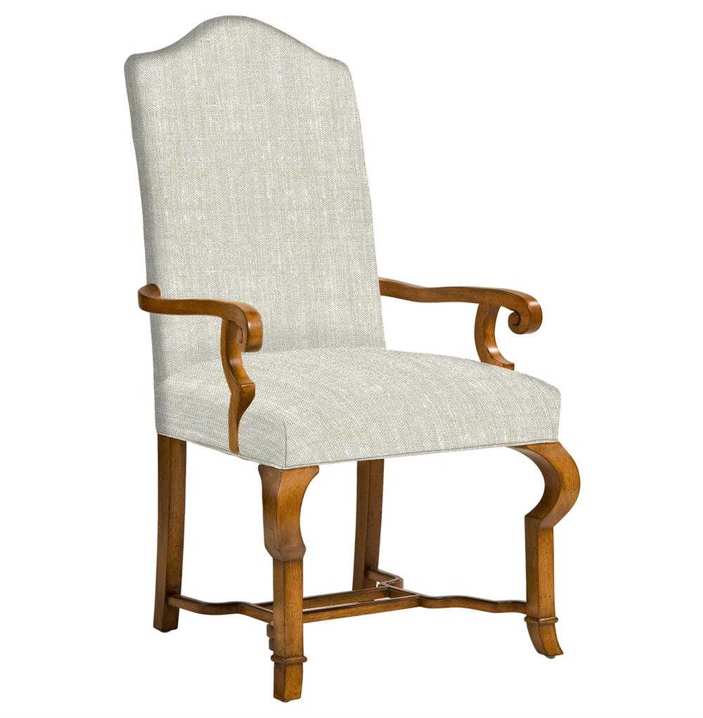 Crawley French Country Camel Back Dining Arm Chair Kathy