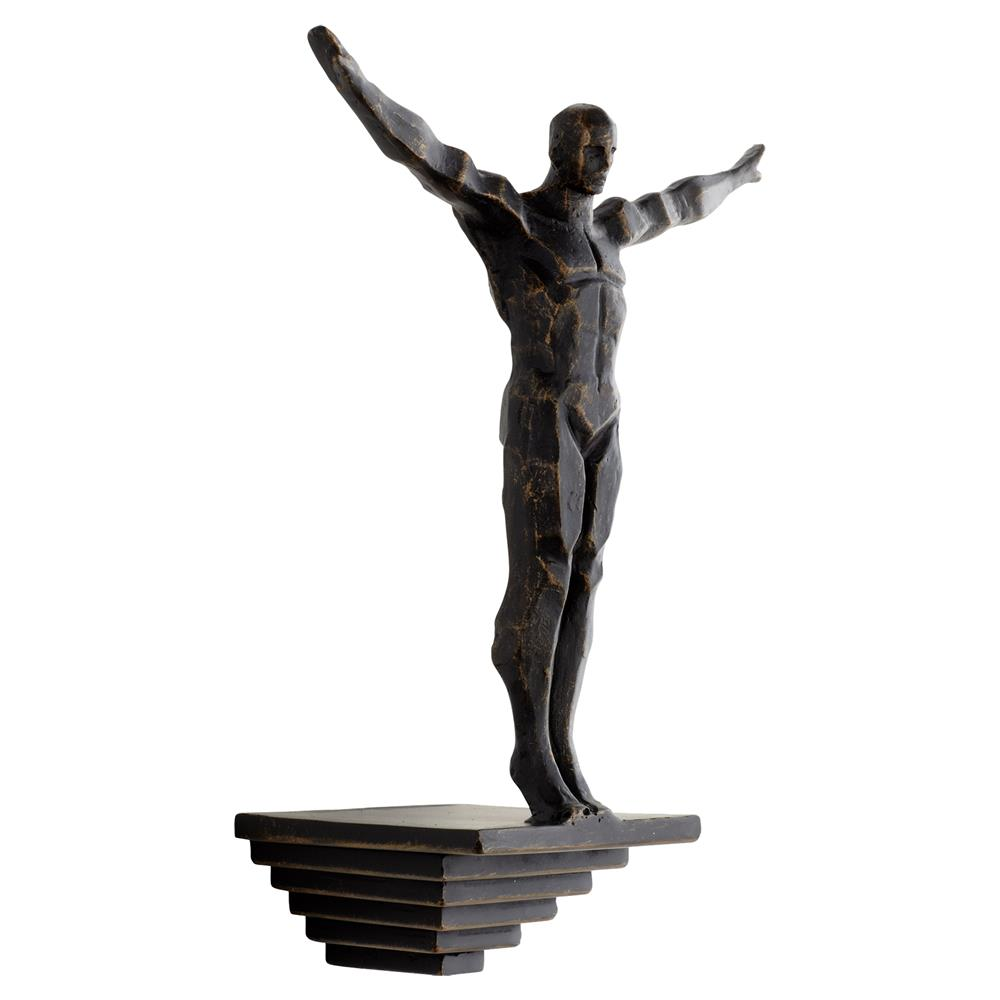 Global Views Wall Diver: Daly Modern Classic Metal Diver Wall Sculpture