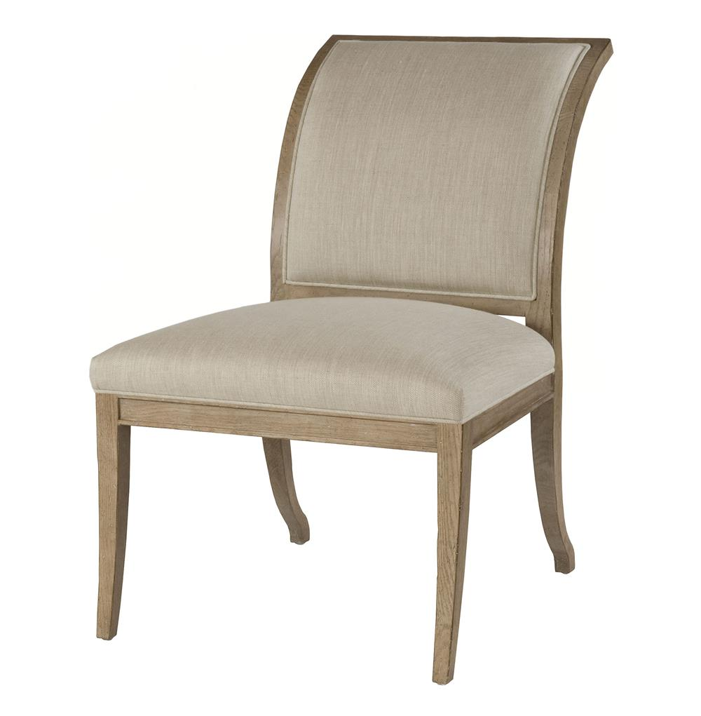 regency style natural linen dining side chairs kathy kuo home