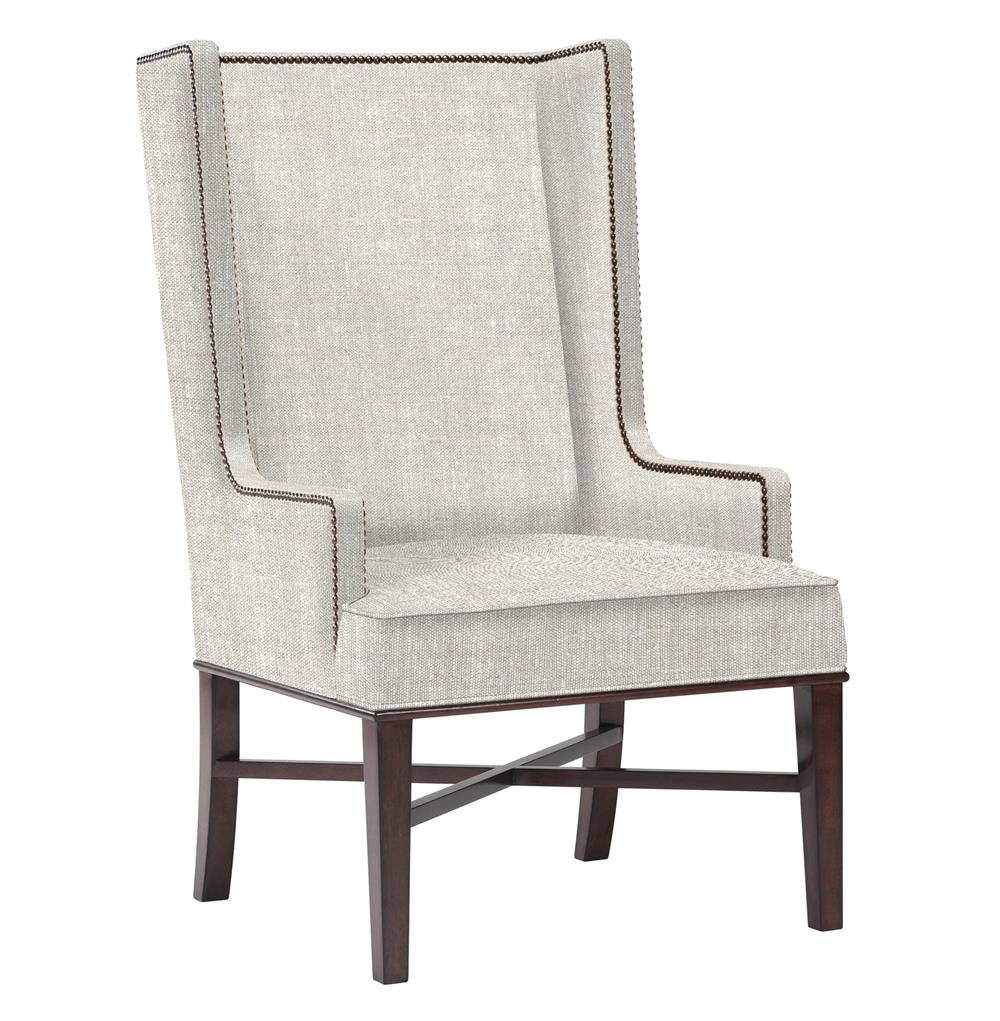 Jacqueline hostess wing back occasional dining arm chair for Modern high back dining chairs