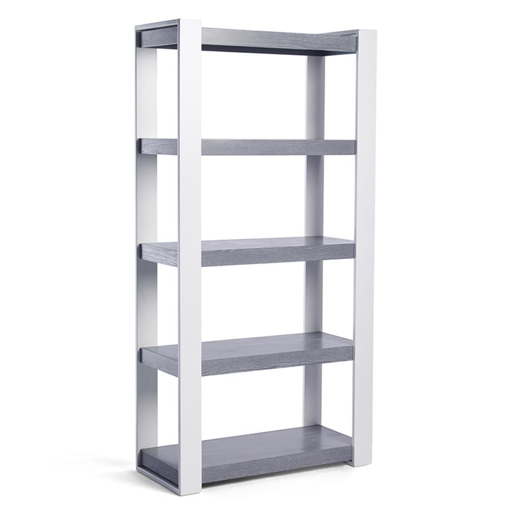 Ducduc Austin Modern White 5 Shelf Bookcase
