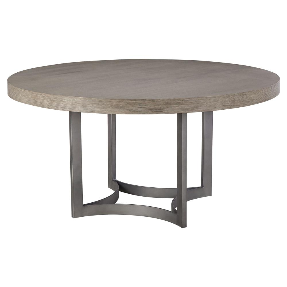 maison 55 paxton mid century modern wood top metal round dining table. Black Bedroom Furniture Sets. Home Design Ideas
