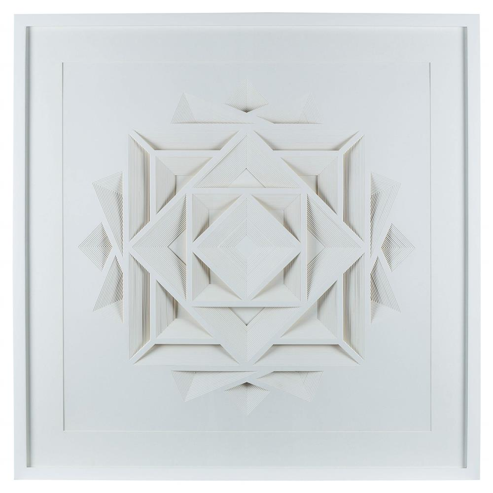 Resource Decor Sadie Modern Classic Square Origami Wood Frame Wall Art