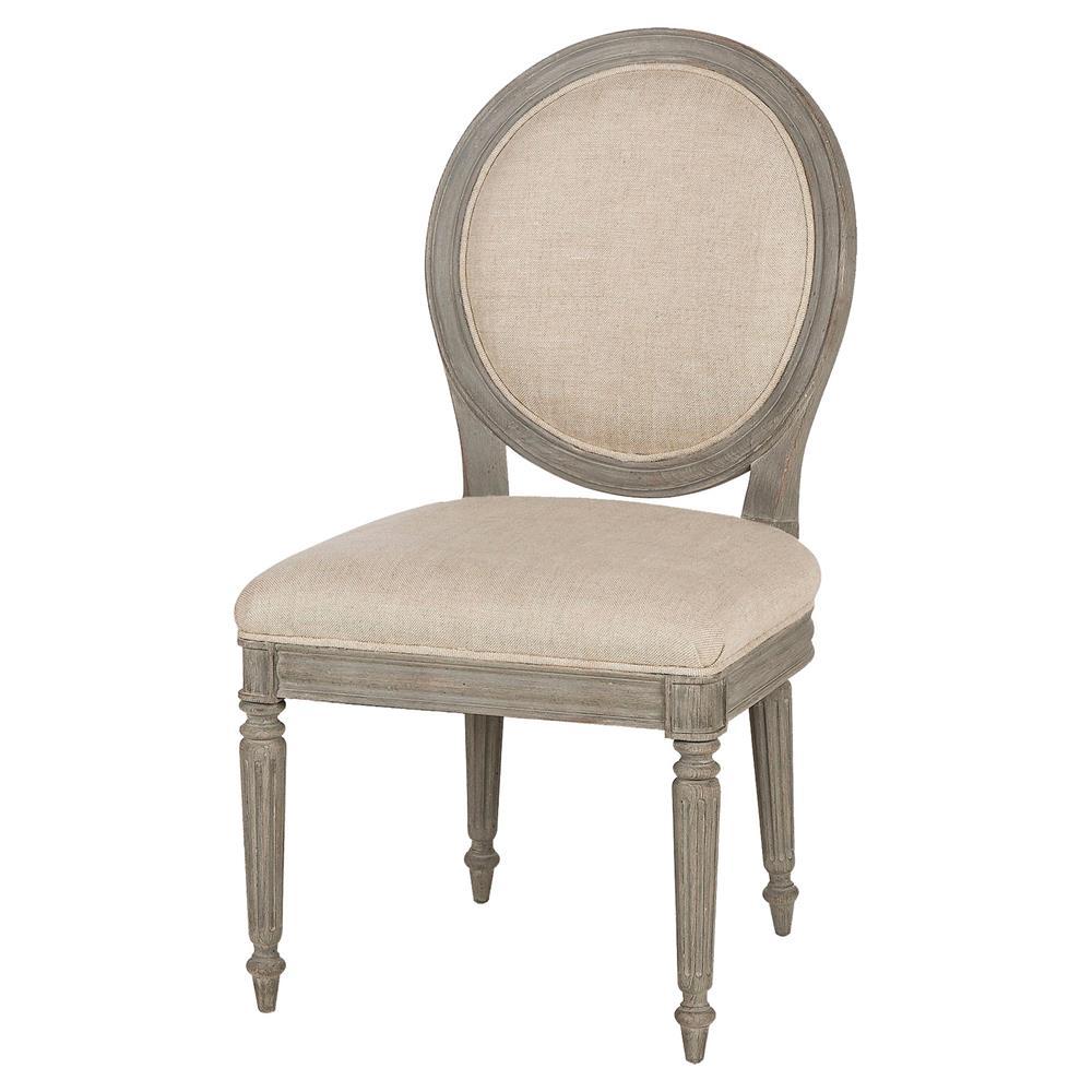 Maison 55 nichole modern classic beige fabric grey wood dining side chair - Maison moderne diningchair ...