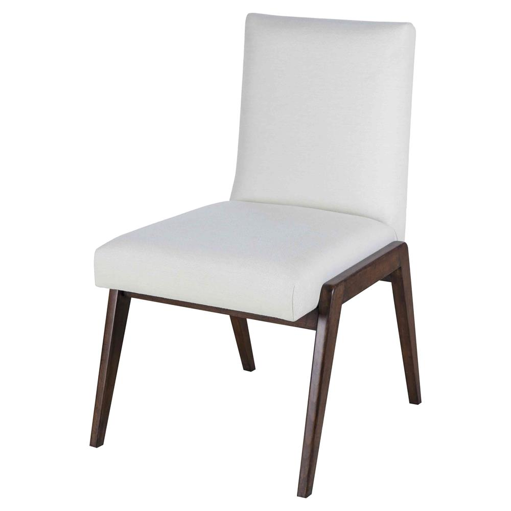Maison 55 owen mid century modern white upholstered wood dining side chair - Maison moderne diningchair ...