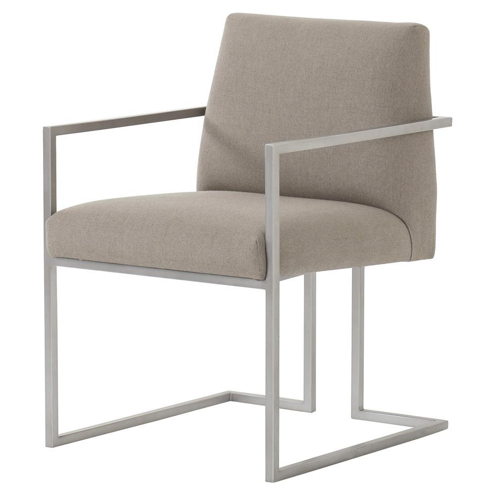 Maison 55 paxton mid century modern tan metal dining arm chair - Maison moderne diningchair ...