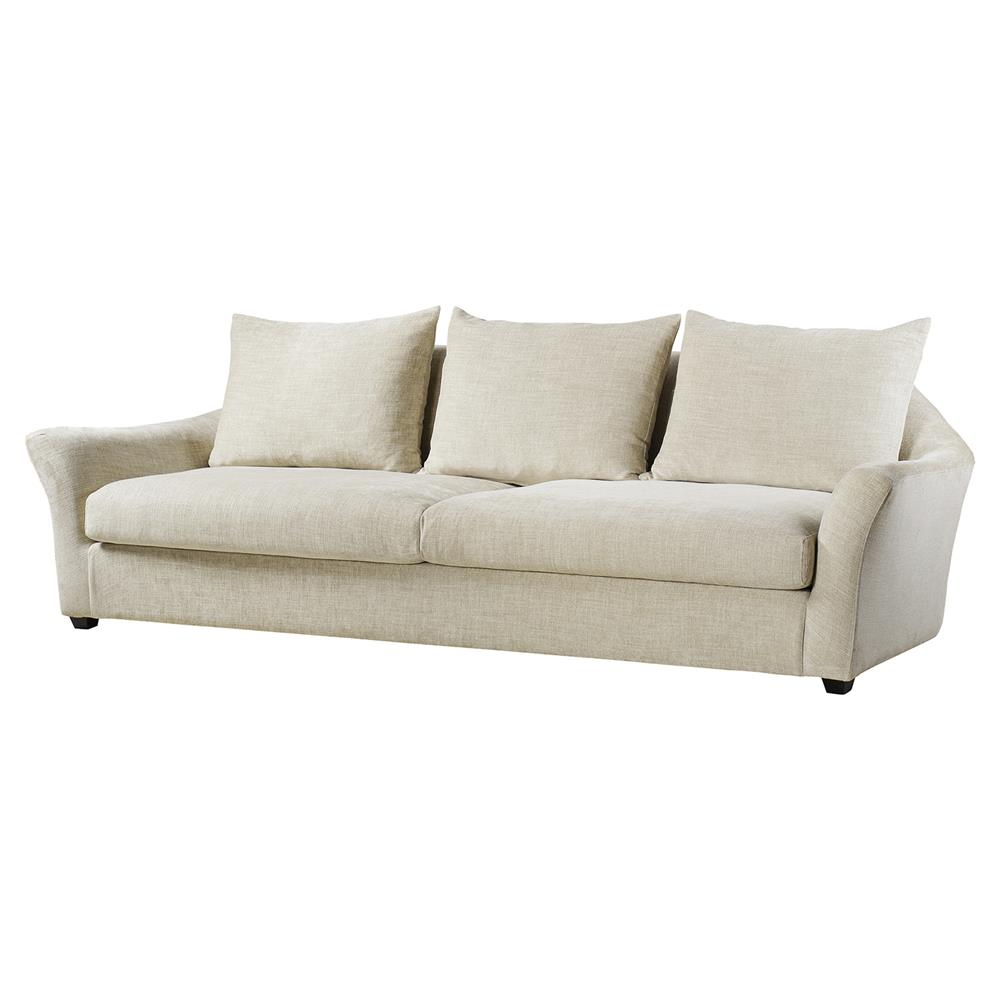 Andrew Martin Sofia Modern Classic White Wood Frame Sofa Sectional | Kathy  Kuo Home ...