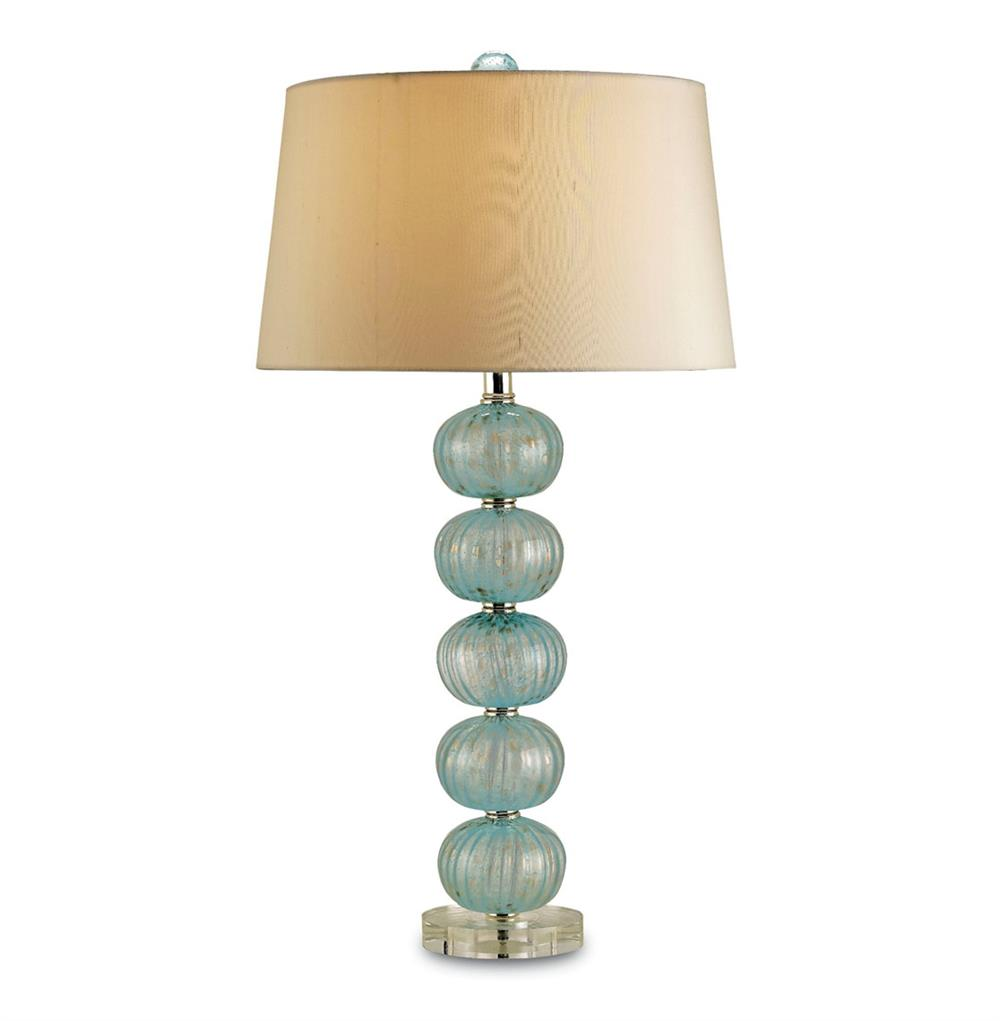 Amelie light blue glass coastal style bubble lamp kathy for Coastal style lighting