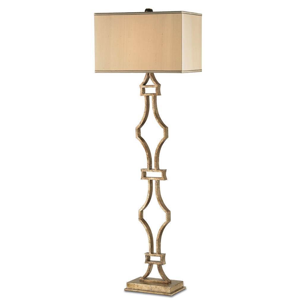 Eternity Wrought Iron Antique Silver Leaf Elegant Floor Lamp 68 Inch
