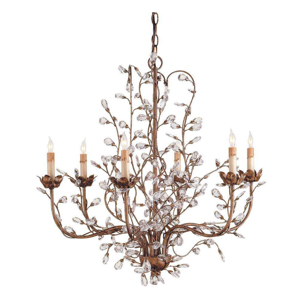 Enchanted Forest Crystal Bud 6 Light Chandelier Kathy
